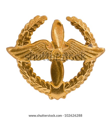 Emblem of the Air Forces on a white background - stock photo