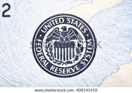 emblem US Federal Reserve - stock photo
