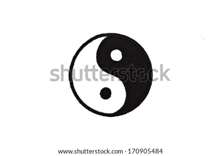 embroidered ying yang