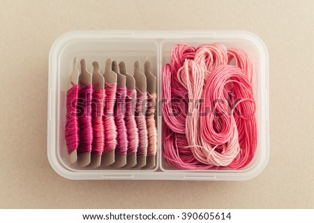 Embroidery Floss Organizer - stock photo