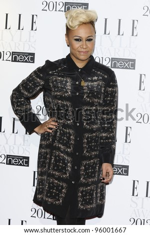 Emeli Sande arriving for the Elle Style Awards 2012 at the Savoy Hotel, London. 13/02/2012 Picture by: Steve Vas / Featureflash