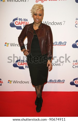 Emeli Sande at The Jingle Bell Ball, The O2 Arena, east London. 04/12/2011  Picture by: Alexandra Glen / Featureflash