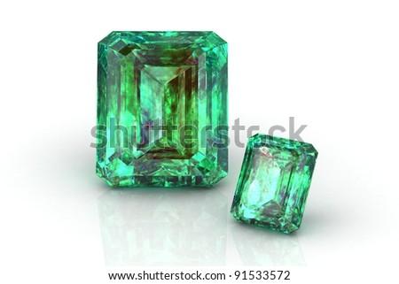 emerald - stock photo