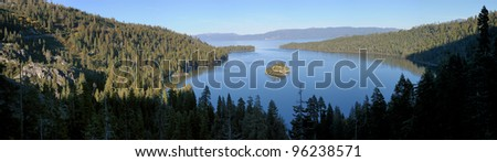 Emerald Bay at Lake Tahoe - stock photo