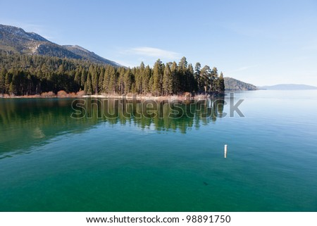 Emerald Bay is one of the most beautiful wilderness areas on, or around, Lake Tahoe. - stock photo