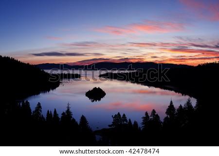 Emerald Bay Sunrise - Lake Tahoe California - stock photo