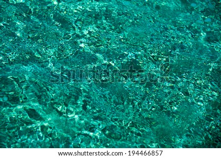 emerald color sea water background