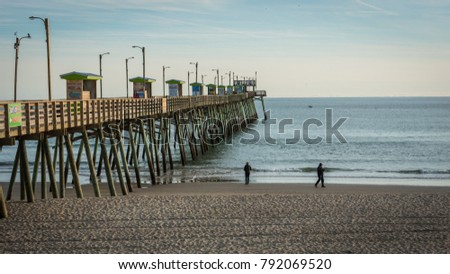 Emerald isle stock images royalty free images vectors for Bogue inlet fishing pier emerald isle nc