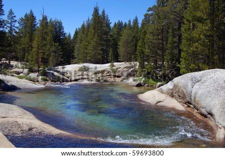 Emerald lake in Yosemite Park California - stock photo