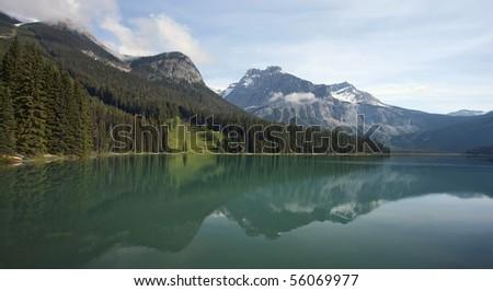 Emerald Lake.  Located in Yoho National Park, British Columbia, Canada. - stock photo
