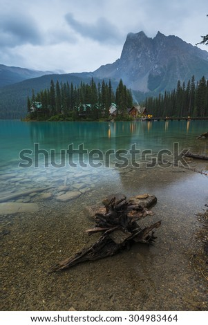 Emerald Lake, Yoho National Park. Alberta, Canada - stock photo