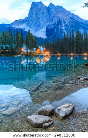 Emerald Lake, Yoho National Park, British Columbia, Canada - stock photo