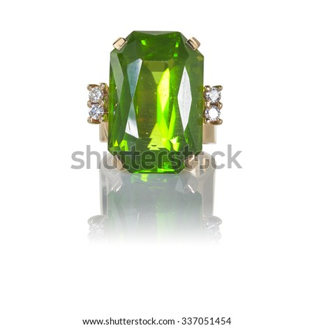 Emerald Ring - stock photo