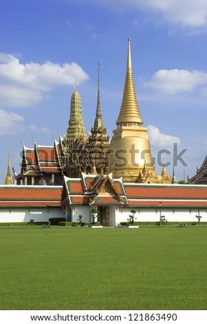 Emerald Temple, Grand Palace, Bangkok, Thailand - stock photo