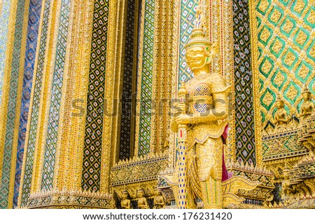Emerald temple in thailand