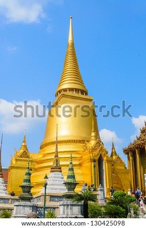 Emerald temple is the landmark of bangkok province (Thailand) - stock photo
