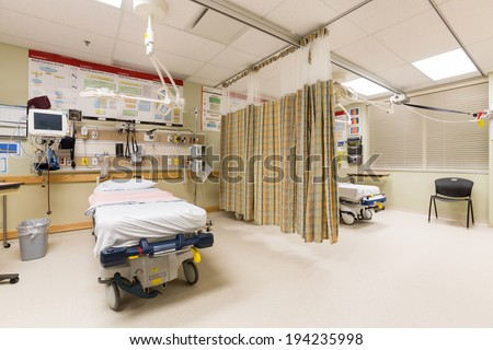 Emergency intake area in a hospital - stock photo