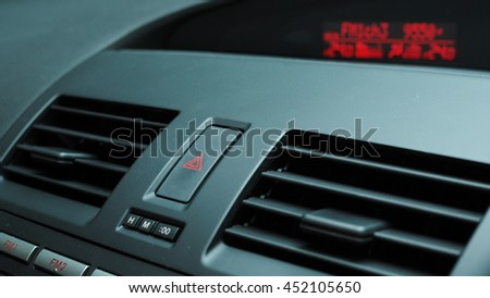 emergency light button - stock photo