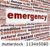 Emergency message conceptual background. Rescue service poster design - stock vector