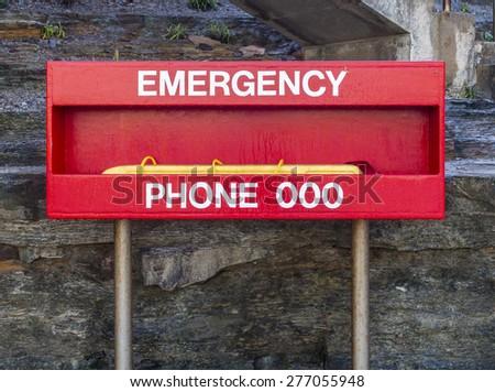 Emergency number 000 - stock photo
