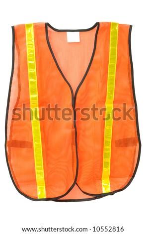Emergency safety vest isolated on white - stock photo
