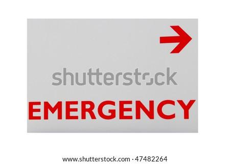 Emergency sign - stock photo