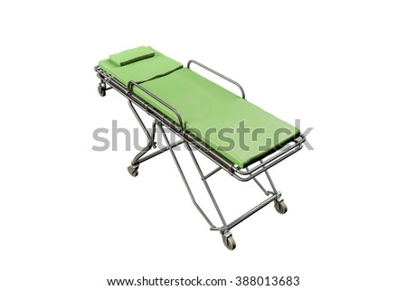 emergency stretcher isolated on white background