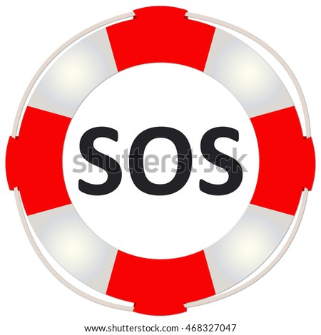 Emergency Symbol,  Isolated with copy space on white