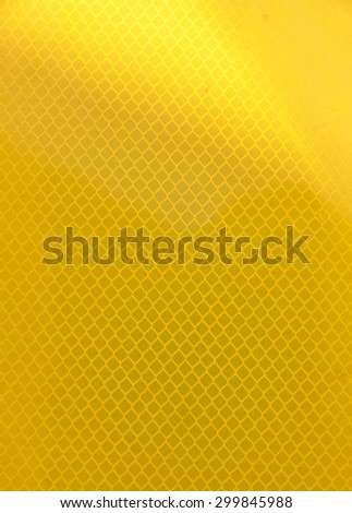 emergency yellow reflector and Industrial warning surface - stock photo