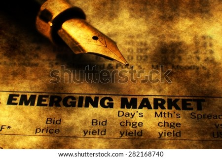 Emerging market - stock photo