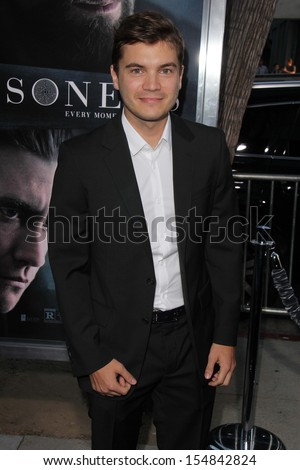 "Emile Hirsch at the ""Prisoners"" World Premiere, Academy of Motion Picture Arts and Sciences, Beverly Hills, CA 09-12-13"