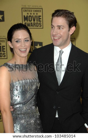 Emily Blunt and John Krasinski at the 15th Annual Critic's Choice Awards, Hollywood Palladium, Hollywood, CA. 01-15-10
