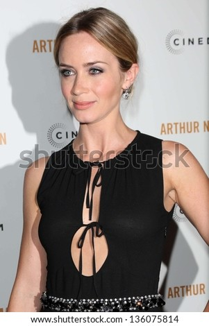 "Emily Blunt at the ""Arthur Newman"" Premiere, Arclight, Hollywood, CA 04-18-13 - stock photo"