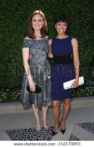 Emily Deschanel and Tamara Taylor at The Rape Foundation's Annual Brunch, Private Location, Beverly Hills, CA 09-29-13