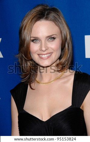 """EMILY DESCHANEL - star of """"Bones"""" - at the Fox All-Star Winter TCA Party in Pasadena. January 20, 2007  Pasadena, CA Picture: Paul Smith / Featureflash - stock photo"""