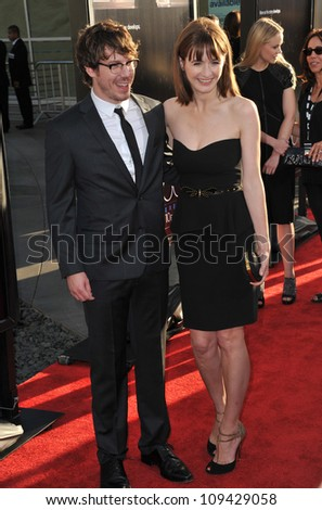 "Emily Mortimer & John Gallagher Jr. at the Los Angeles premiere for HBO's new series ""The Newsroom"" at the Cinerama Dome, Hollywood. June 21, 2012  Los Angeles, CA Picture: Paul Smith / Featureflash"