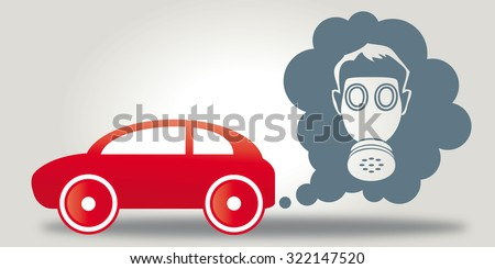 emissions-cheating cars are harmful to health - Illustration - stock photo