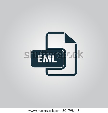 EML file format. Flat web icon or sign isolated on grey background. Collection modern trend concept design style  illustration symbol - stock photo