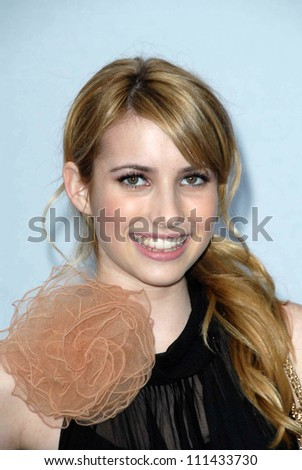 Emma Roberts  at the 2007/2008 Chanel Cruise Show Presented by Karl Lagerfeld. Hanger 8, Santa Monica, CA. 05-18-07 - stock photo