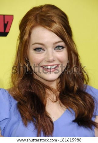 Emma Stone at Premiere of SUPERBAD, Grauman's Chinese Theatre, Los Angeles, CA, August 13, 2007 - stock photo