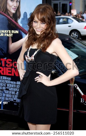 """Emma Stone at the Los Angeles premiere of """"Ghosts Of Girlfriends Past"""" held at the Grauman's Chinese Theatre in Los Angeles, United States, 270409.  - stock photo"""