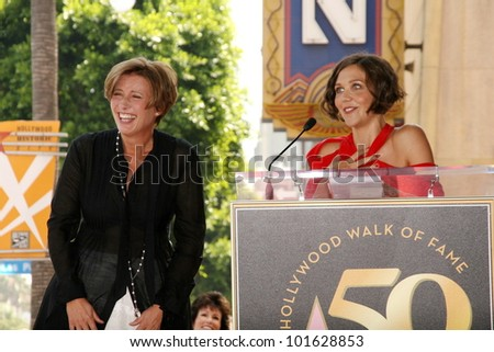 Emma Thompson and Maggie Gyllenhaal  at the induction ceremony for Emma Thompson into the Hollywood Walk of Fame, Hollywood, CA. 08-06-10