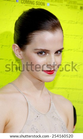 "Emma Watson at the Los Angeles premiere of ""The Perks Of Being A Wallflower"" held at the ArcLight Cinemas Cinerama Dome in Los Angeles, United States on September 10, 2012.  - stock photo"