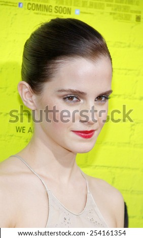 "Emma Watson at the Los Angeles premiere of ""The Perks Of Being A Wallflower"" held at the ArcLight Theatre in Los Angeles, United States on September 10, 2012.  - stock photo"