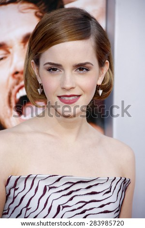 "Emma Watson at the Los Angeles Premiere of ""This Is The End"" held at the Regency Village Theatre on June 3, 2013 in Los Angeles, California.  - stock photo"
