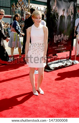 """Emma Watson at the U.S. Premiere of """"Harry Potter and the Order of the Phoenix"""" Grauman's Chinese Theater Los Angeles, CA July 8, 2007 - stock photo"""