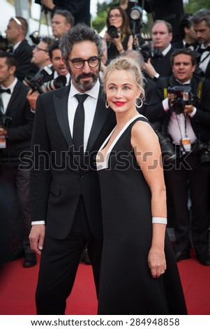 Emmanuelle Beart attends the opening ceremony and premiere of La Tete Haute ( Standing Tall ) during the 68th annual Cannes Film Festival on May 13, 2015 in Cannes, France. - stock photo