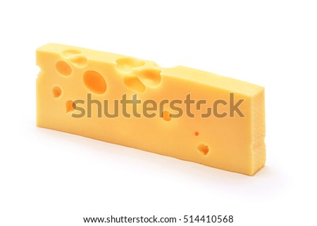 emmentaler cheese block isolated