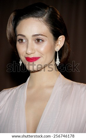 Emmy Rossum at the Global Green USA's 10th Annual Pre-Oscar Party held at the Avalon in Los Angeles, United States, 20/02/13.  - stock photo