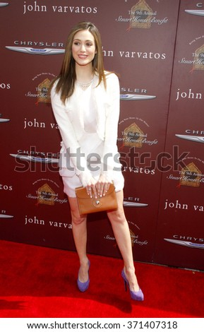 Emmy Rossum at the John Varvatos 9th Annual Stuart House Benefit Presented By Chrysler And Hasbro held at the John Varvatos Boutique, California, United States on March 11, 2012.  - stock photo